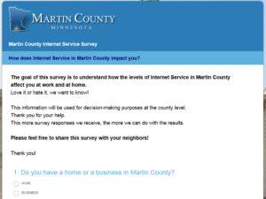 internet survey screenshot