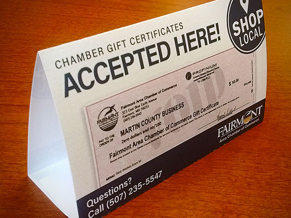 Chamber Gift Certificates