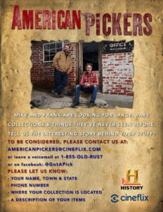 American Pickers to Film in Minnesota